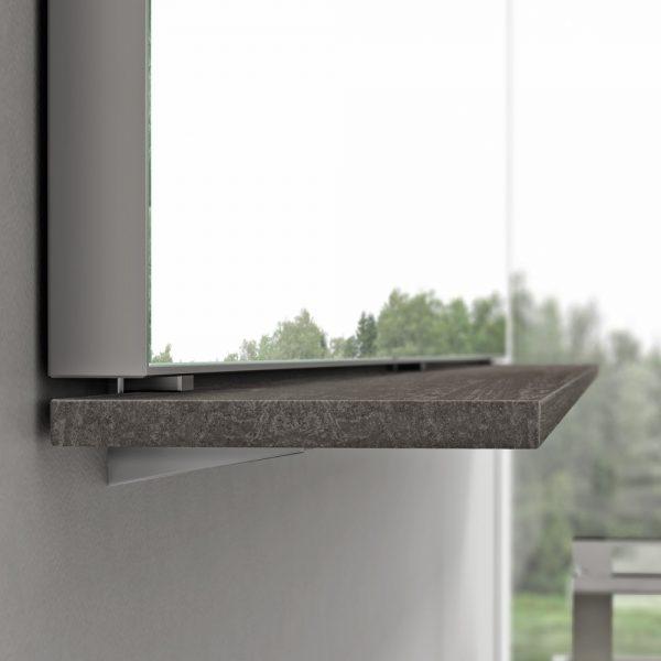 Enganche repisa-espejo camerino sin perforar la pared