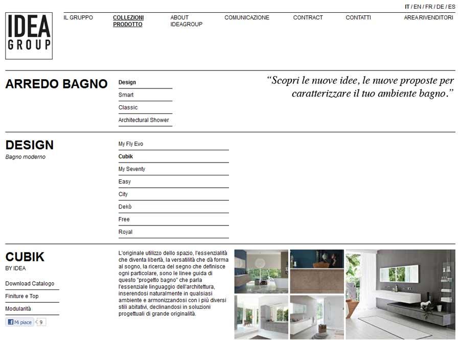 El nuevo sitio web ideagroup.it