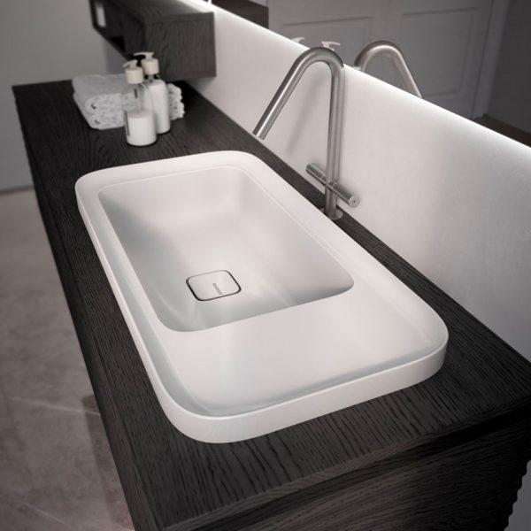 Nuevo lavabo Cameo de ceramica brillo y opaco