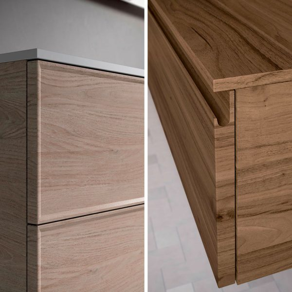Doble tipo de puerta: con marco (Form T) o con empuñadura tipo gola (Forma J).