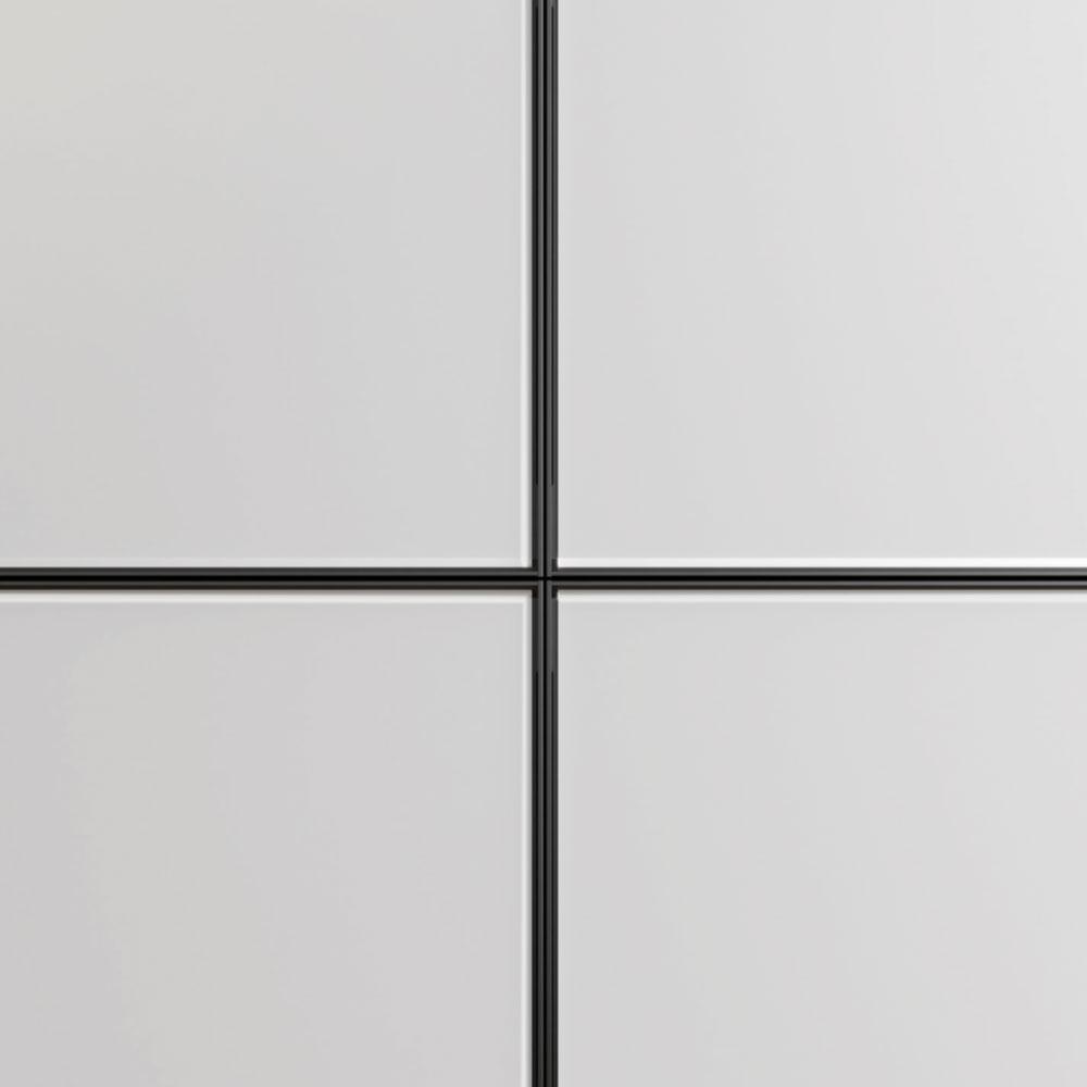 Frontales de las bases de aluminio Nero y vidrio deslustrado