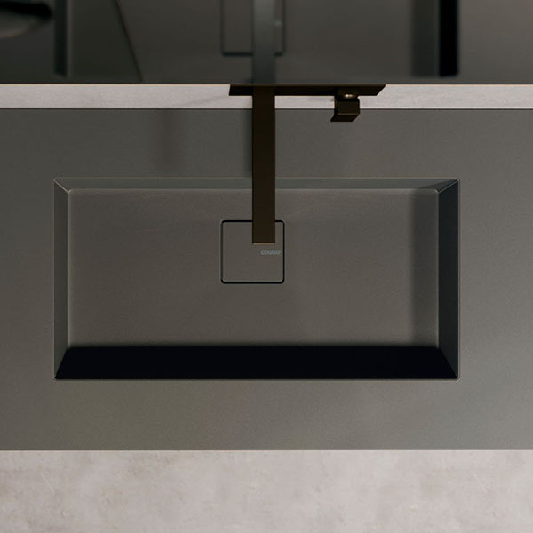 Encimera Duplex de Fenix con lavabo integrado